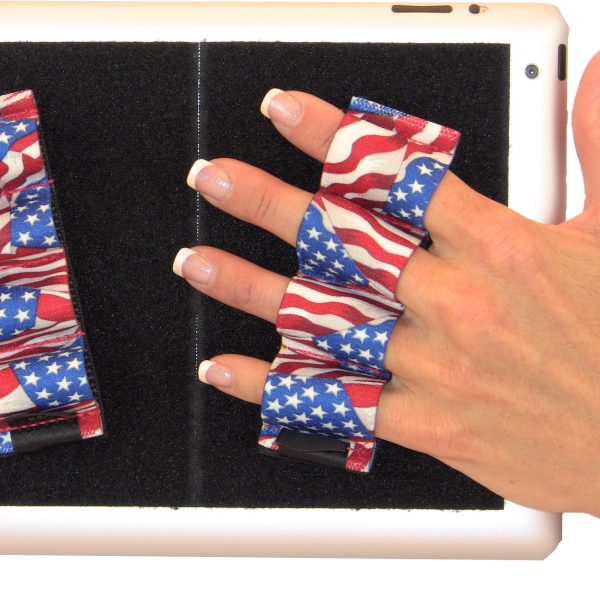Heavy Duty 4-Loop Grips for iPad or Large Tablet (x2) - Flags