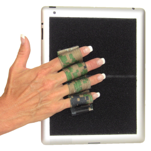 Heavy Duty 4-Loop Grip for iPad or Large Tablet - Camouflage