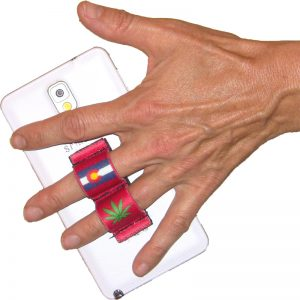 2-Loop Phone Grip - Pot Leaf Colorado Red