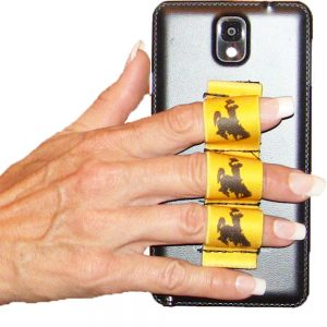Wyoming Cowboy with Gold Background 3-Loop Phone Grip PG3