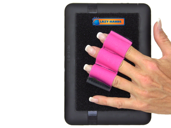 Tablet Grip with 3 Loops - Pink