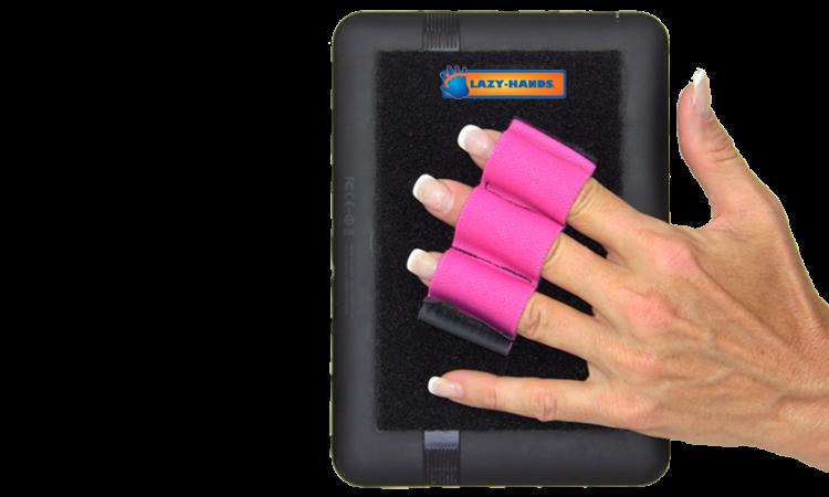 Tablet Grip with 3 Loops - Pink