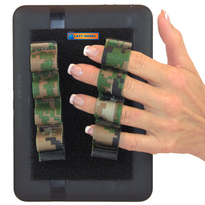 4 Loop Tablet or Reader Grips (x2) - Camouflage