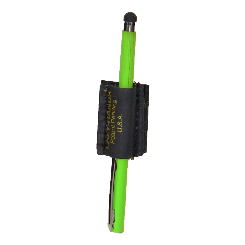 LAZY-HANDS Stylus Grip (shown with green stylus)