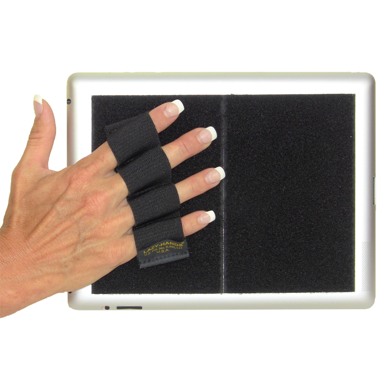 Heavy Duty 4-Loop Grip for iPad or Large Tablet - Black and White Checkers