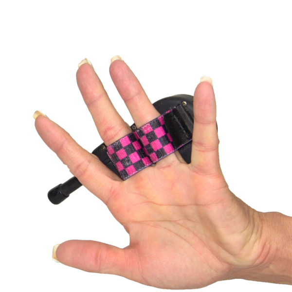 SIT MEANS SIT Remote Grip - Black and Pink Checkers