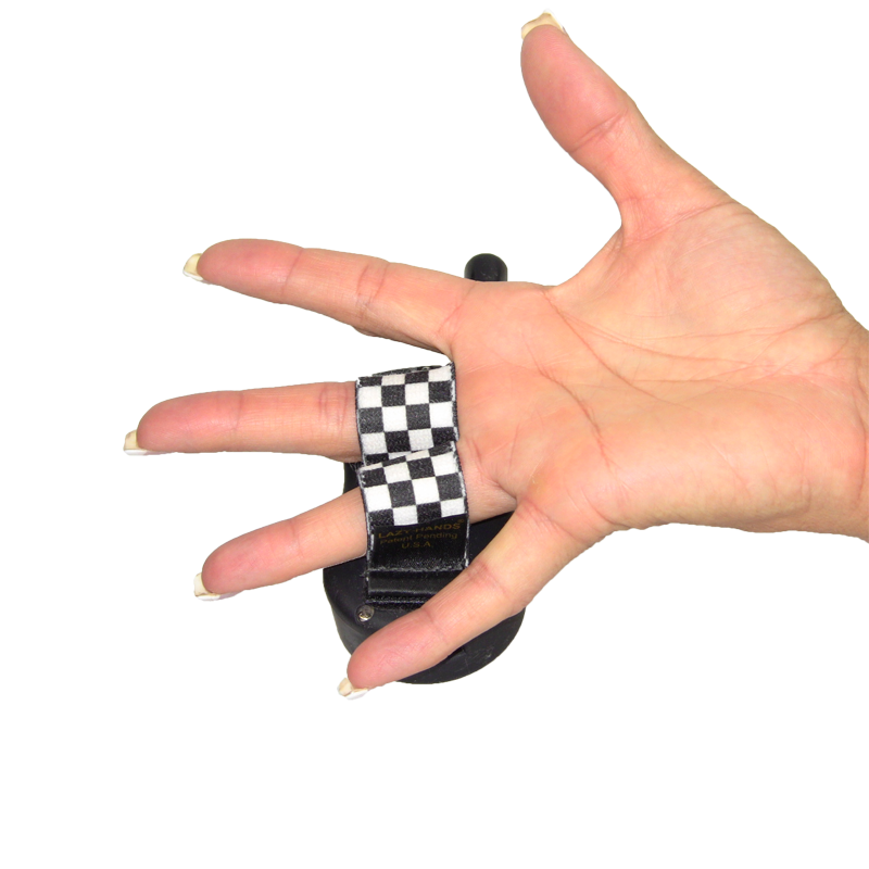 SIT MEANS SIT Remote Grip - Black and White Checkers