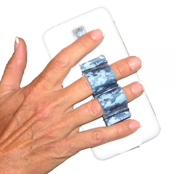 2-Loop Phone Grip - Blue Camouflage