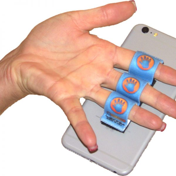 3-Loop Phone Grip - Blue Hand-in-Circle
