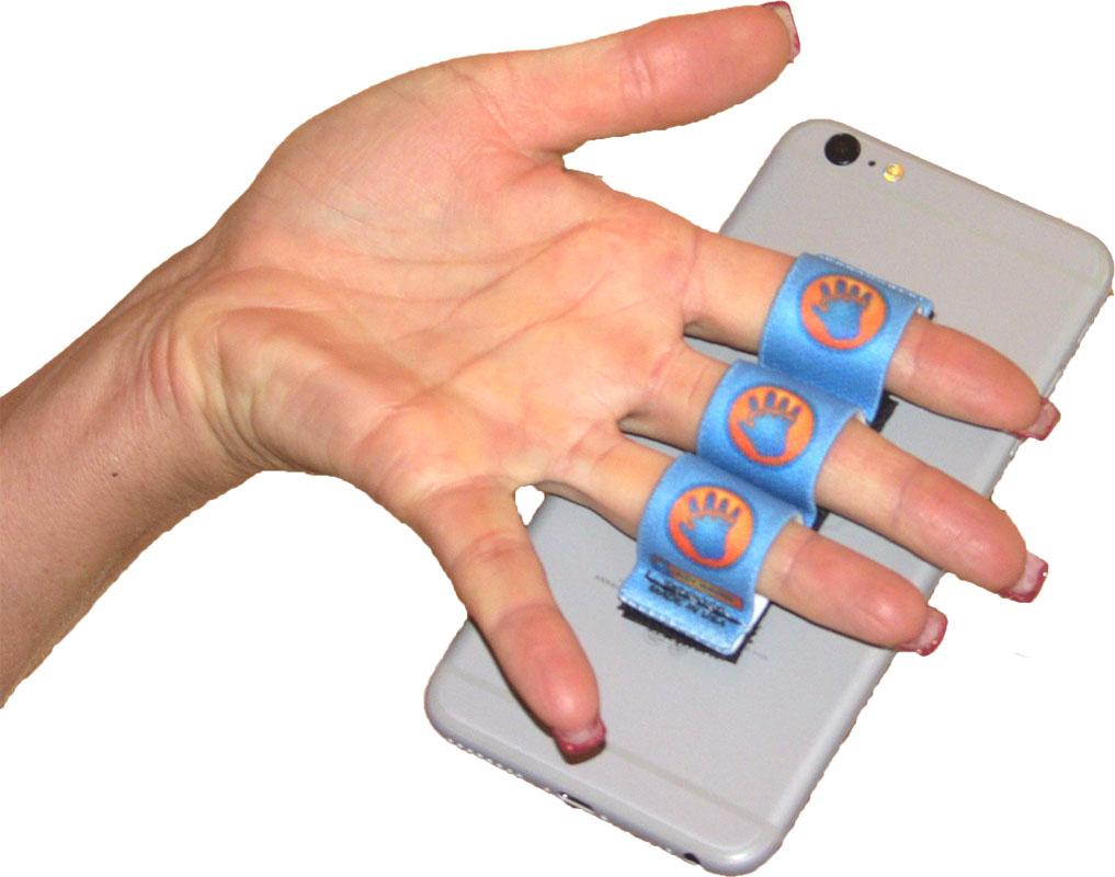 3-Loop Phone Grip - Blue Hand-in-Circle