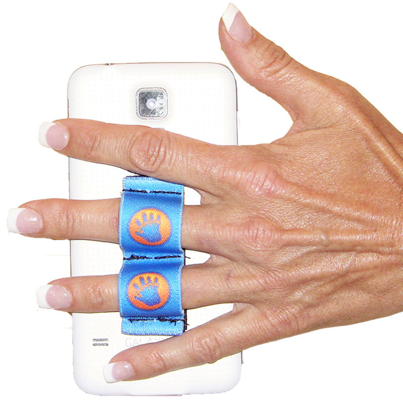 2-Loop Phone Grip - LAZY-HANDS Blue Hand-in-Circle