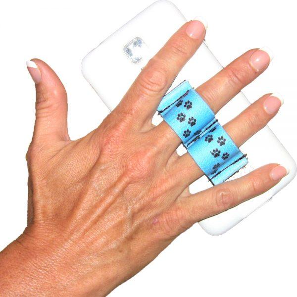 2-Loop Phone Grip - Paws - Blue