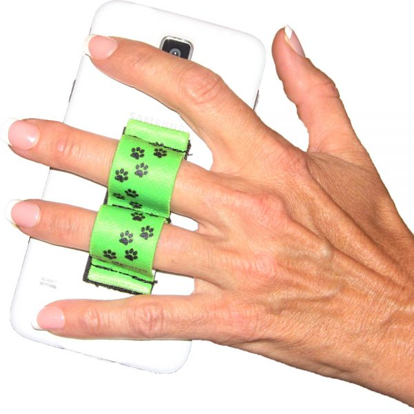 2-Loop Phone Grip - Paws - Green