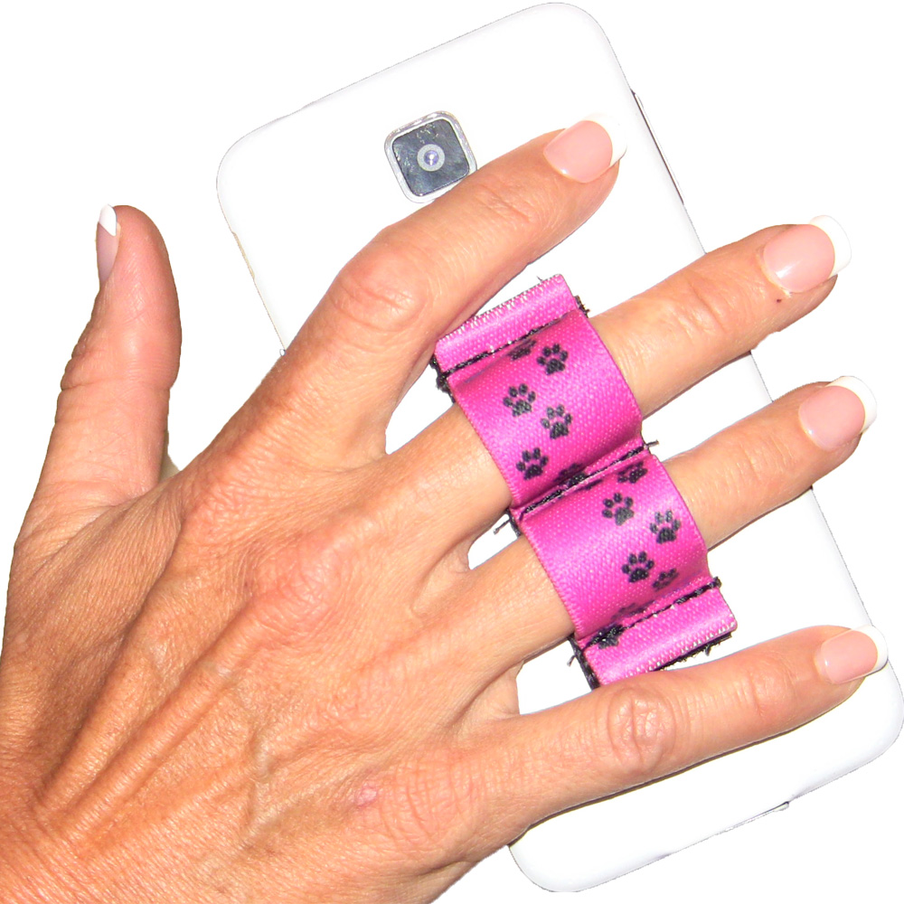 2-Loop Phone Grip - Paws - Pink
