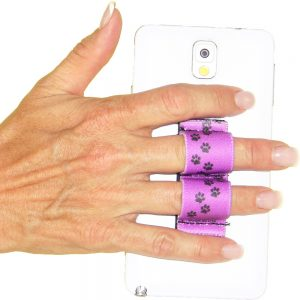 2-Loop Phone Grip - Paws - Purple