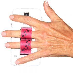 2-Loop Phone Grip - Paws - Red