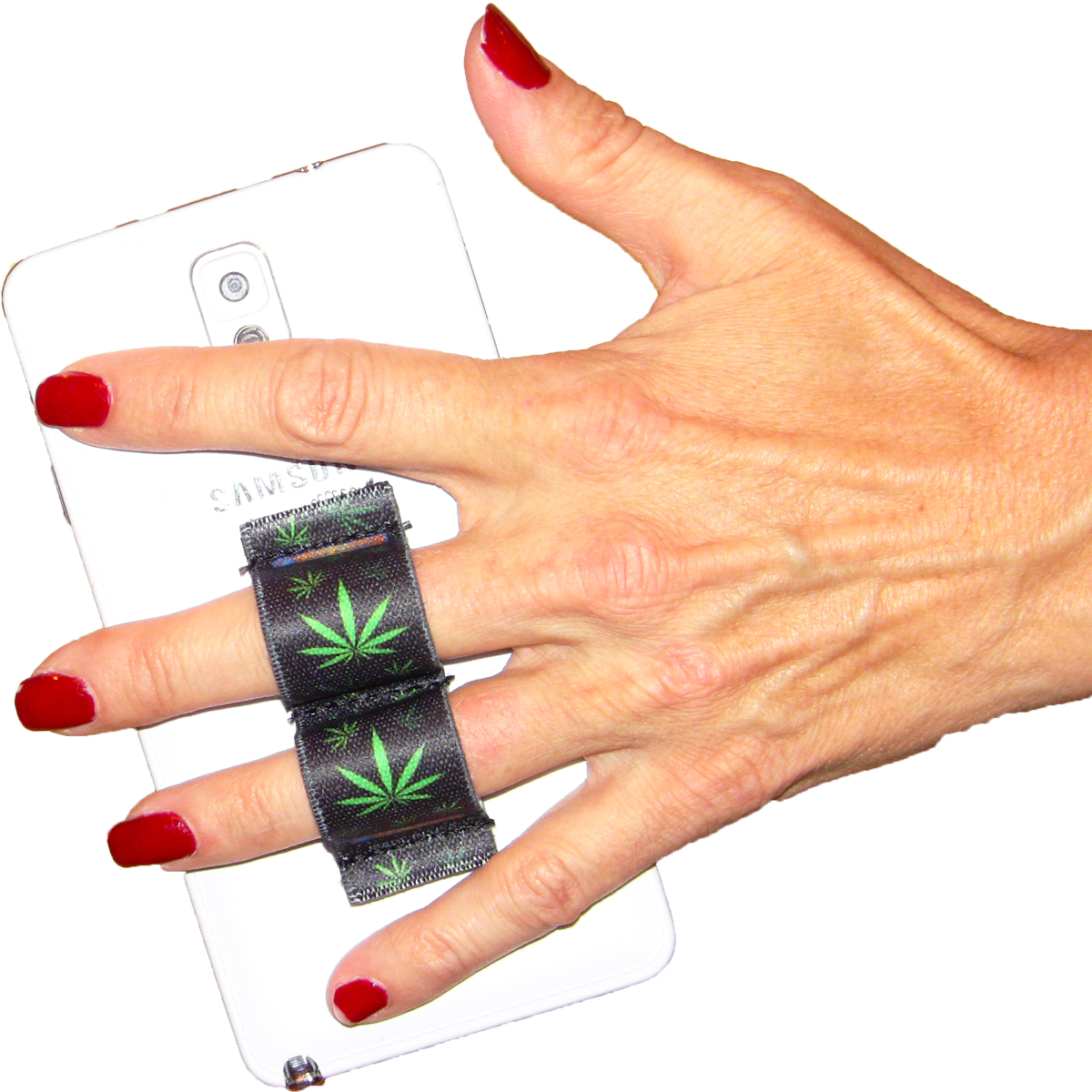 2-Loop Phone Grip - Pot Leaf 1