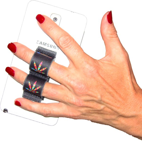 2-Loop Phone Grip - Pot Leaf Tie Dye