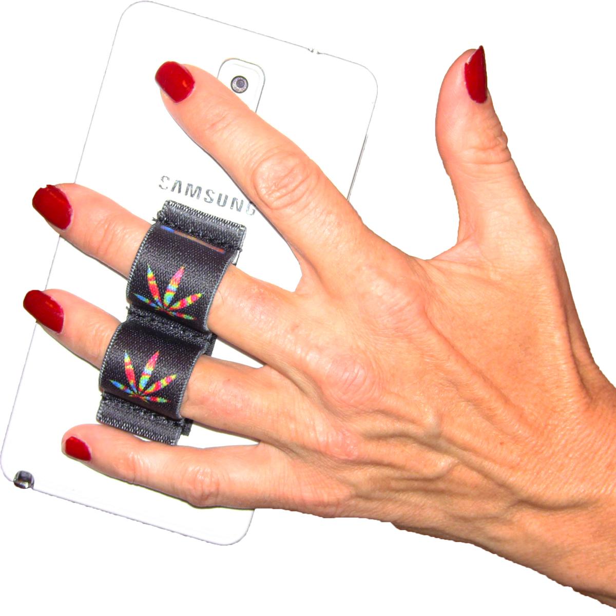 2-Loop Phone Grip - Pot Leaf Tie Dye