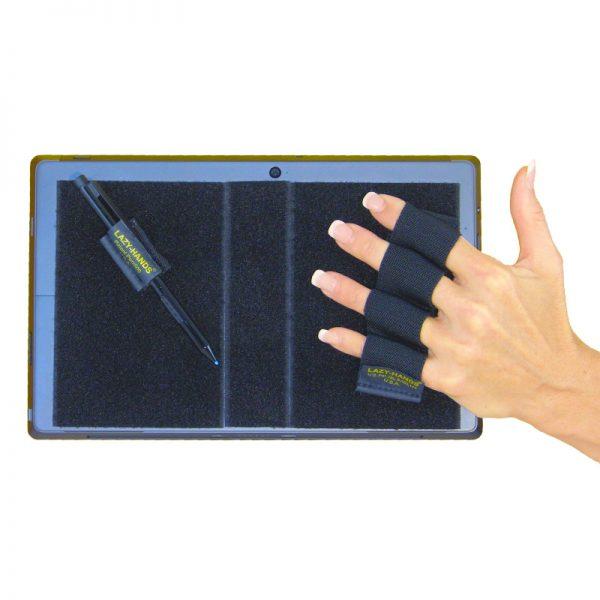 Heavy-Duty 4-Loop Grip (x1 Grip) + Stylus Grip for Tablets & Surface - Black