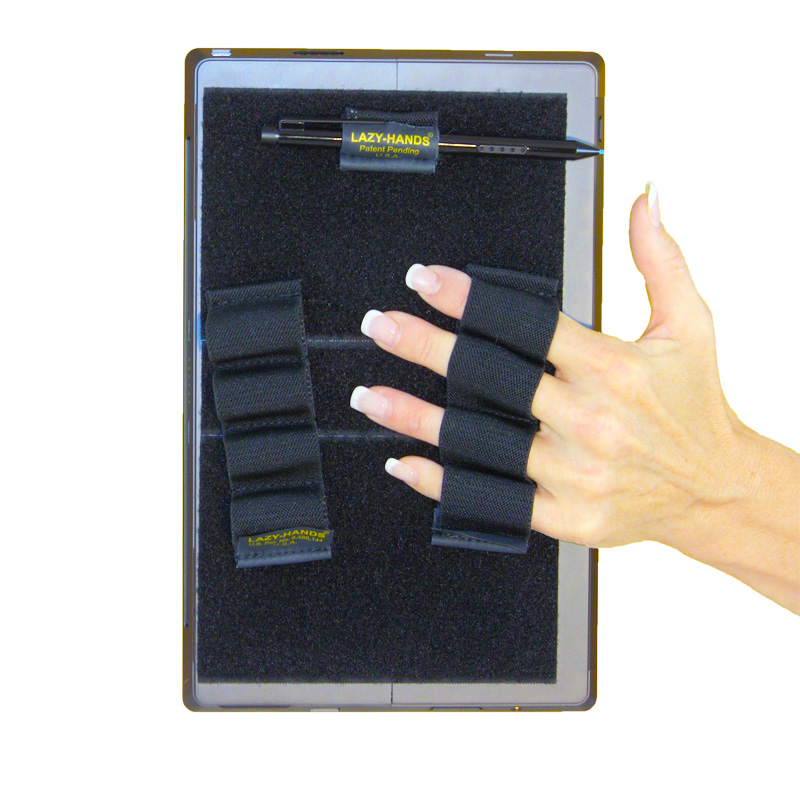 Heavy Duty 4-Loop Grips (x2) for Microsoft Surface with Stylus Grip - Black, XL