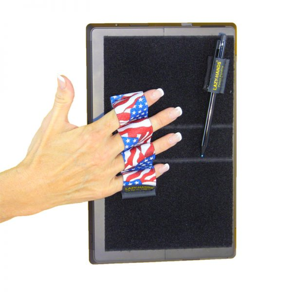 Heavy-Duty 4-Loop Grip (x1 Grip + Stylus Grip) for Tablets & Surface - Flags