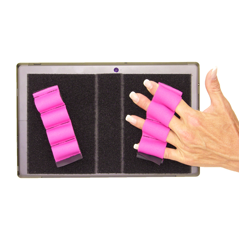 Heavy-Duty 4-Loop Grips (x2 Grips) for Tablets & Surface - Pink