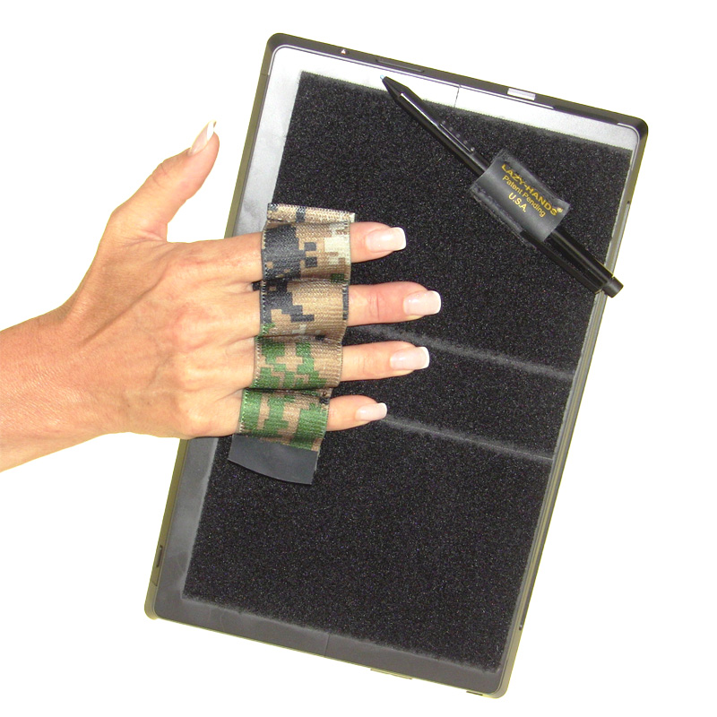 Heavy-Duty 4-Loop Grip (x1 Grip) + Stylus Grip for Tablets & Surface - Camouflage