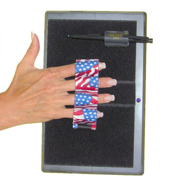 Heavy-Duty 4-Loop Grip (x1 Grip) + Stylus Grip for Tablets & Surface - Flags
