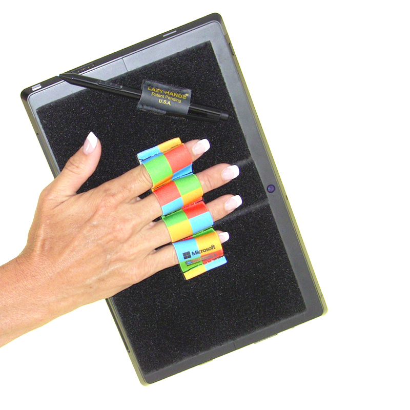 Heavy-Duty 4-Loop Grip (x1 Grip) + Stylus Grip for Tablets & Surface - Microsoft Checkers