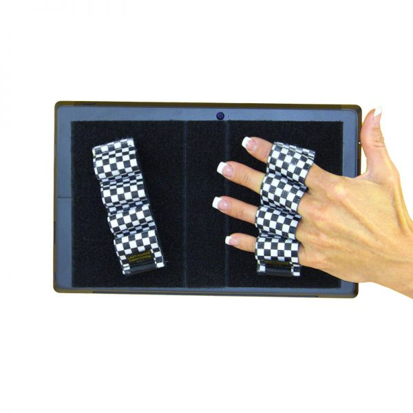 Heavy-Duty 4-Loop Grips (x2 Grips) for Tablets & Surface - Black & White Checkers