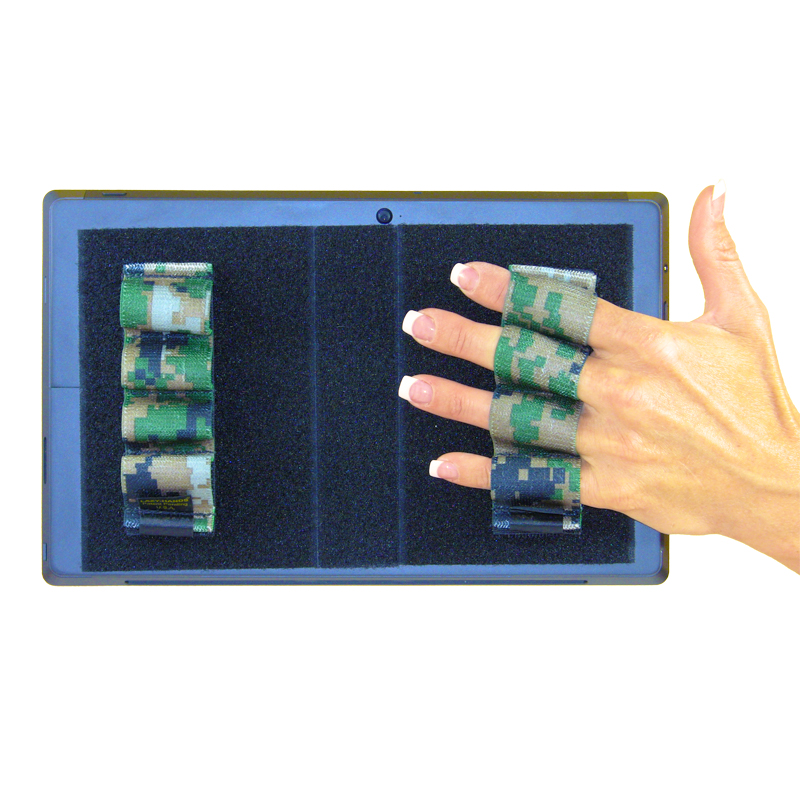 Heavy-Duty 4-Loop Grips (x2 Grips) for Tablets & Surface - Camouflage