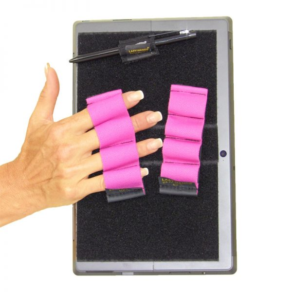 Heavy-Duty 4-Loop Grips (x2 Grips) + Stylus Grip for Tablets & Surface - Pink