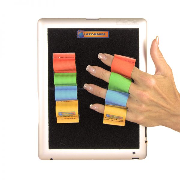 Heavy-Duty 4-Loop Grips (x2 Grips) for Tablets - Rainbow Solids