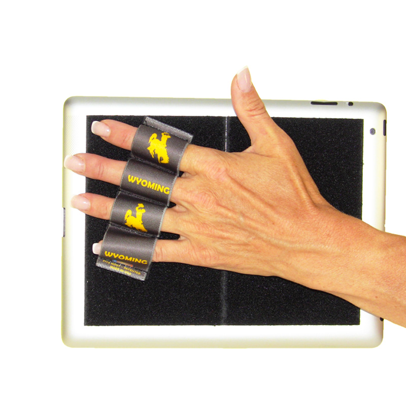 Wyoming Cowboy with Brown Background Tablet Grip (x1 Grip)