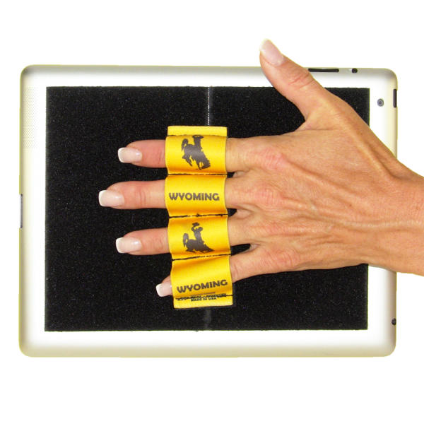 Wyoming Cowboy with Gold Background Tablet Grip (x1 Grip)