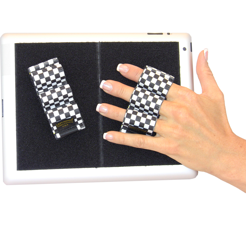 Heavy-Duty 3-Loop Grip (x2 Grips) - Black and White Checkers