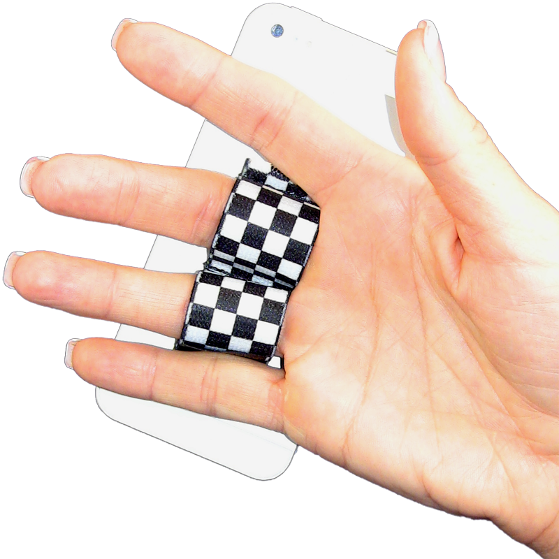 2-Loop Phone Grip - Black & White Checkers