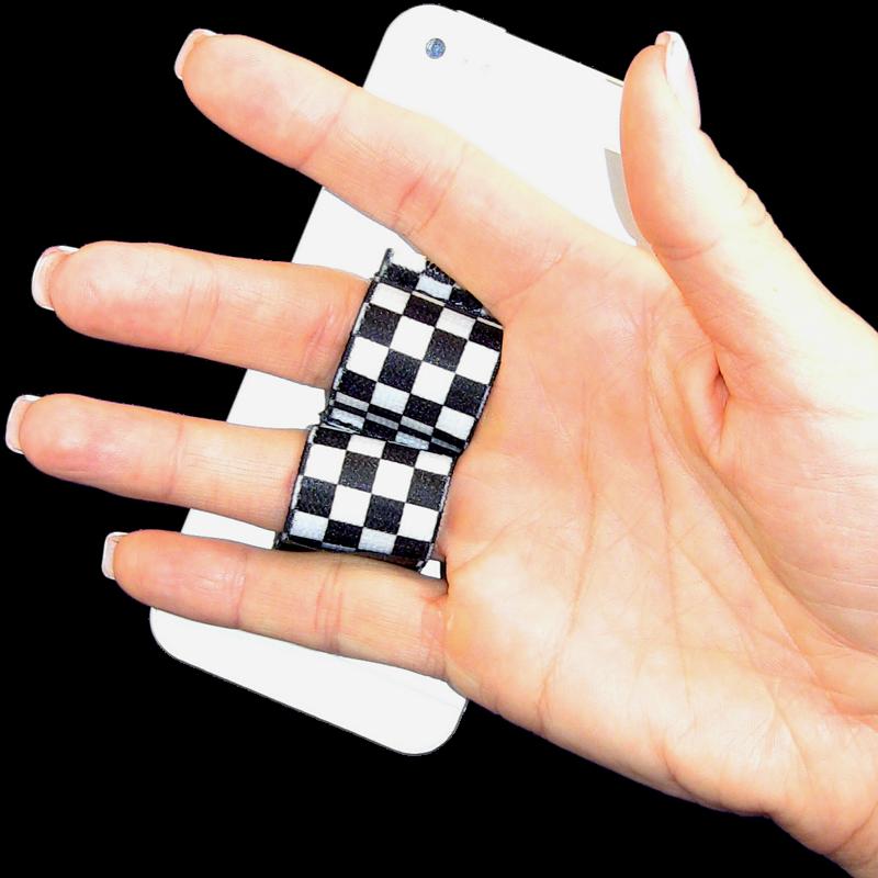 2-Loop Phone Grip - Black & White Checkers