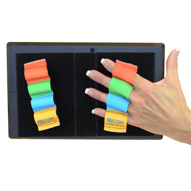 Heavy Duty 4-Loop Grips (x2) for Microsoft Surface - Rainbow Colors
