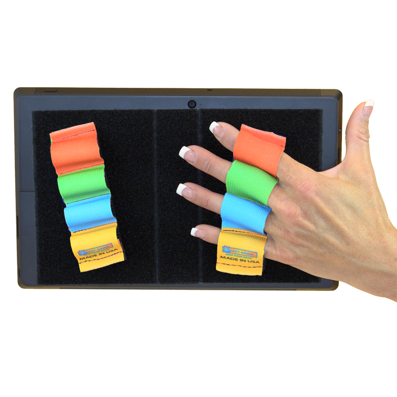 Heavy Duty 4-Loop Grips (x2) for Microsoft Surface - Rainbow Colors