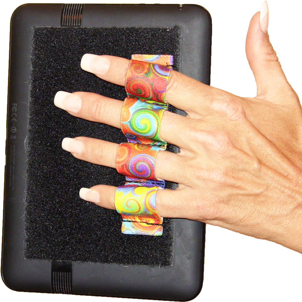 4-Loop Grip (x1 Grip) for Kindles, Nooks, Other eReaders and Small Tablets – Swirls