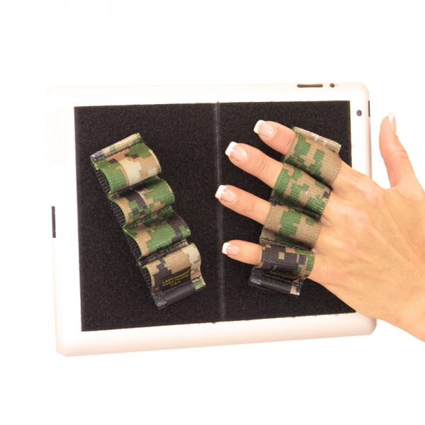 Heavy-Duty 4-Loop Grips (x2 Grips) for iPad and Large Tablets - Camouflage