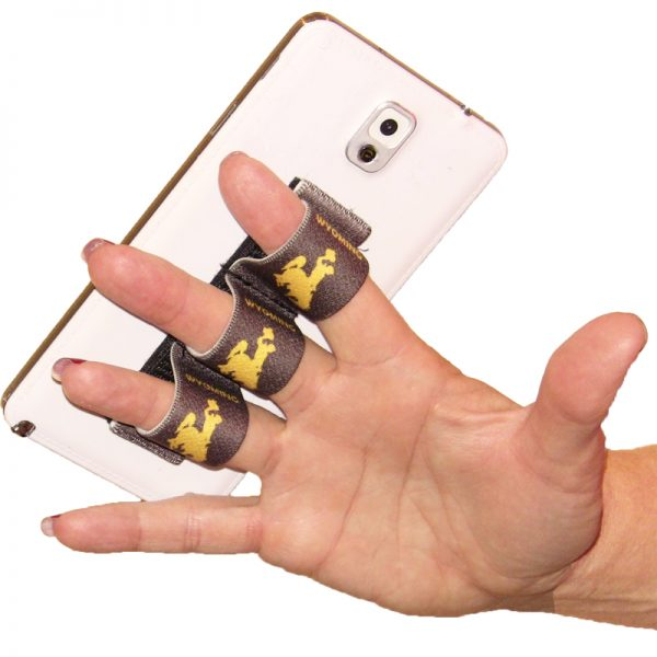 Wyoming Cowboy with Brown Background 3-Loop Phone Grip PG3