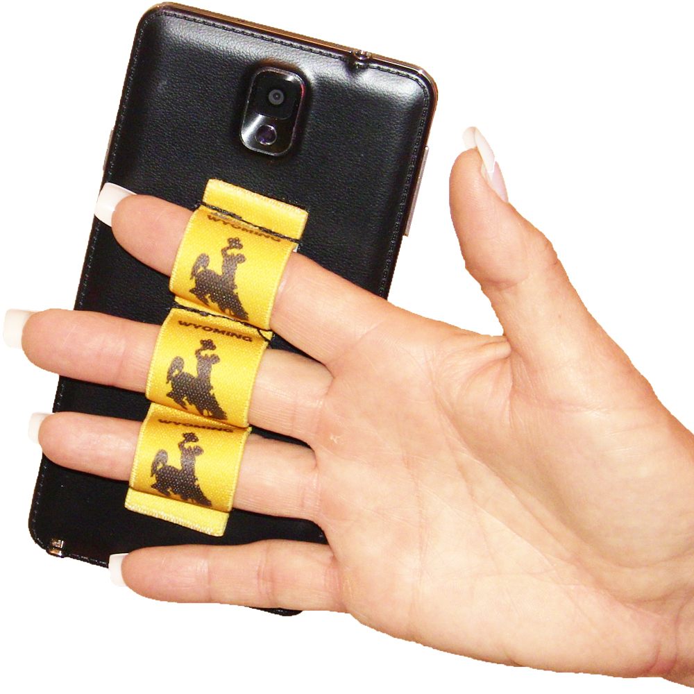 Wyoming Cowboy with Gold Background 3-Loop Phone Grip PG3