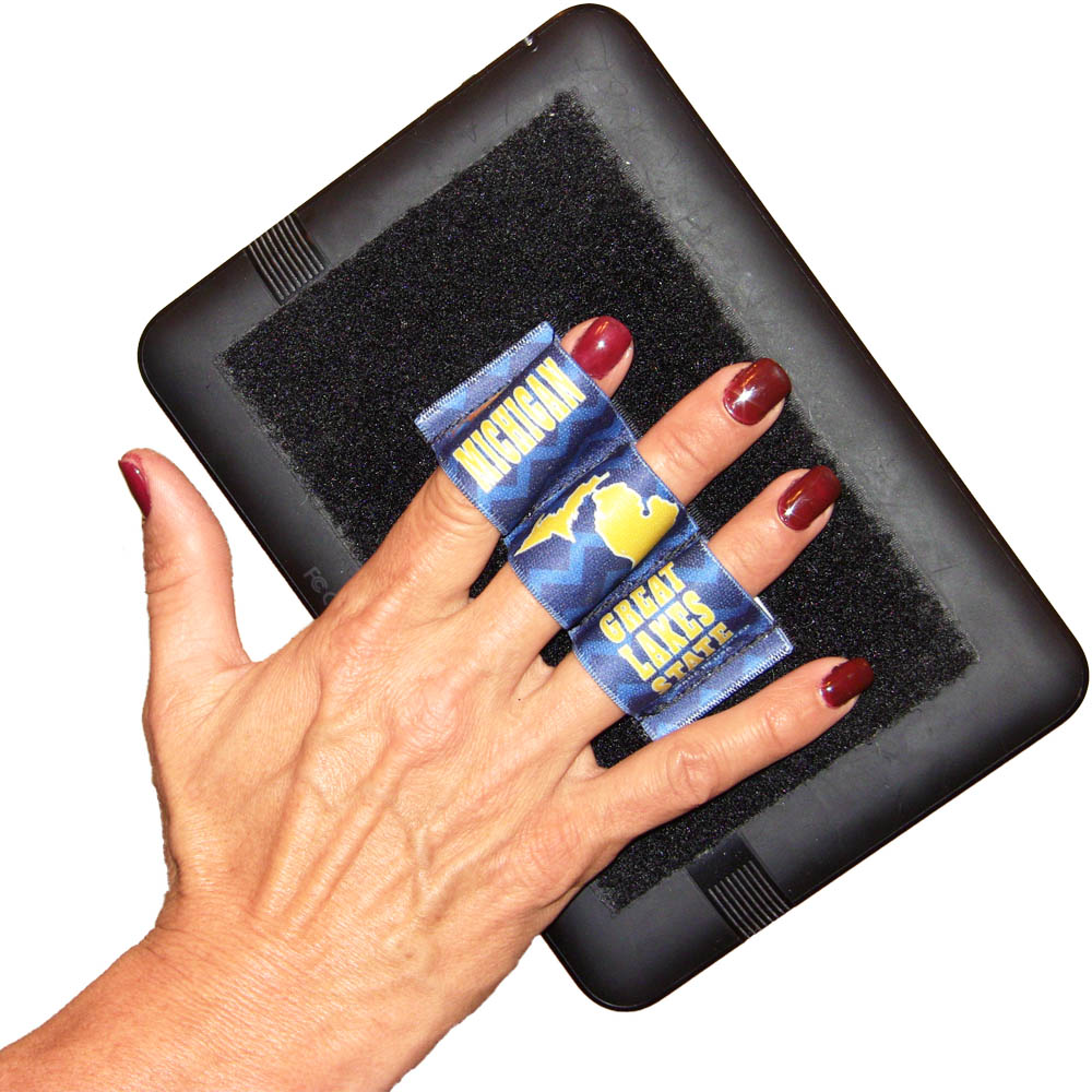 Heavy Duty 3-Loop Grip (x1 Grip) for Small Tablets, iPad Mini and Readers - Michigan