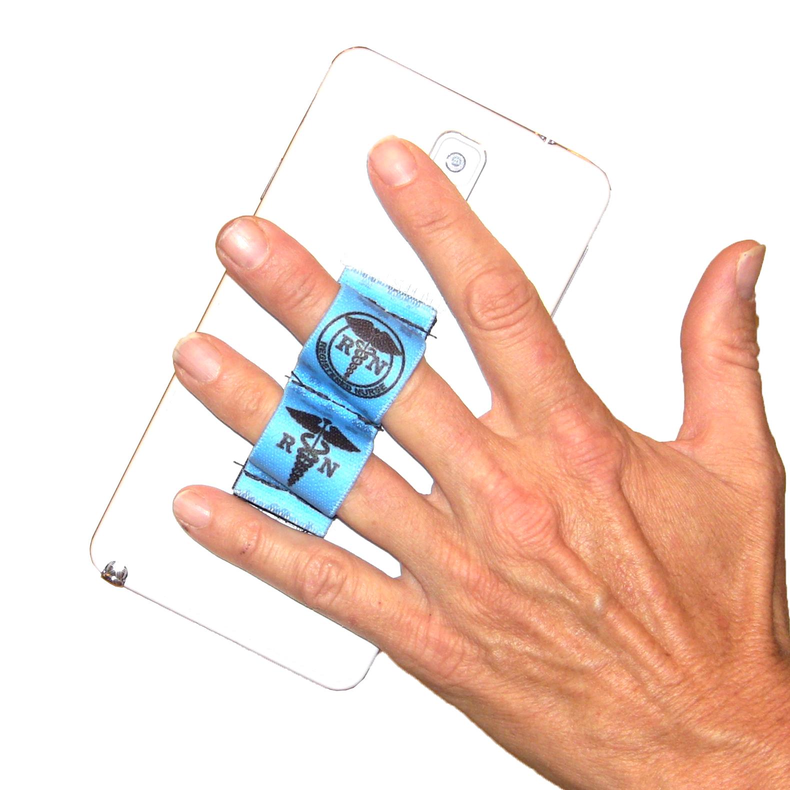 Nurse RN Blue Phone Grip