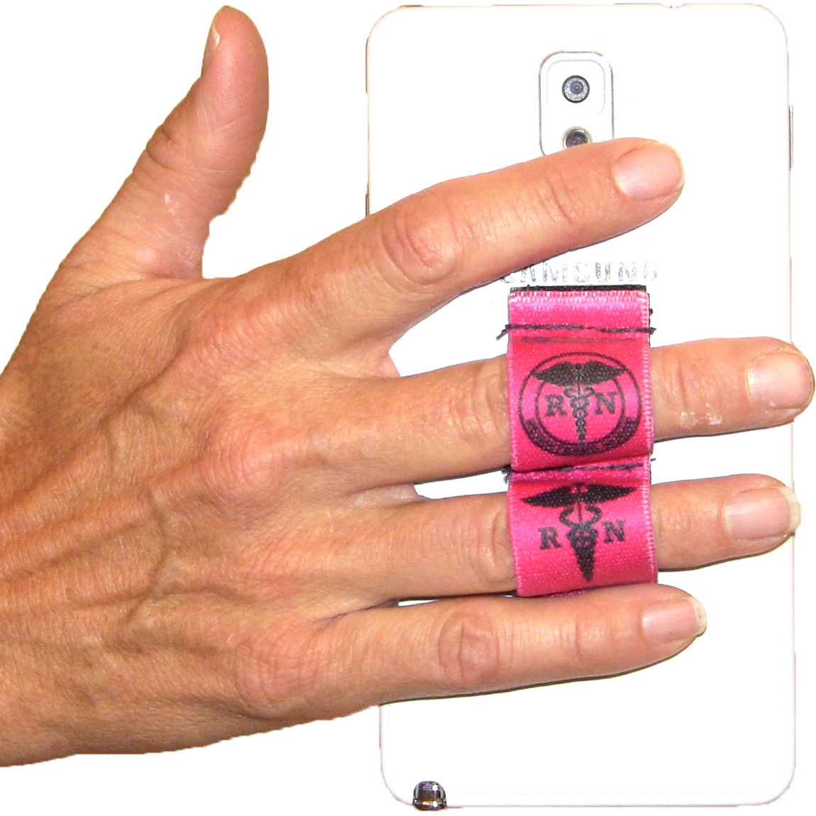 Nurse RN Pink Phone Grip