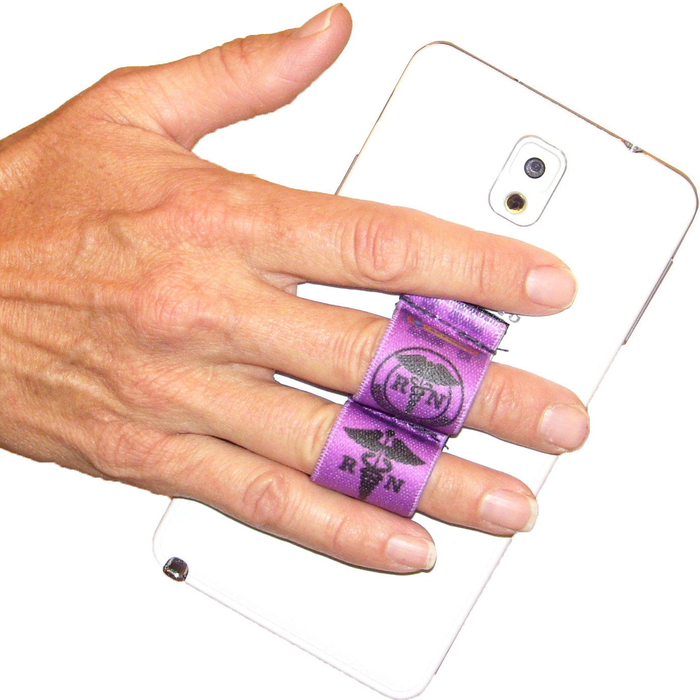 Nurse RN Purple Phone Grip