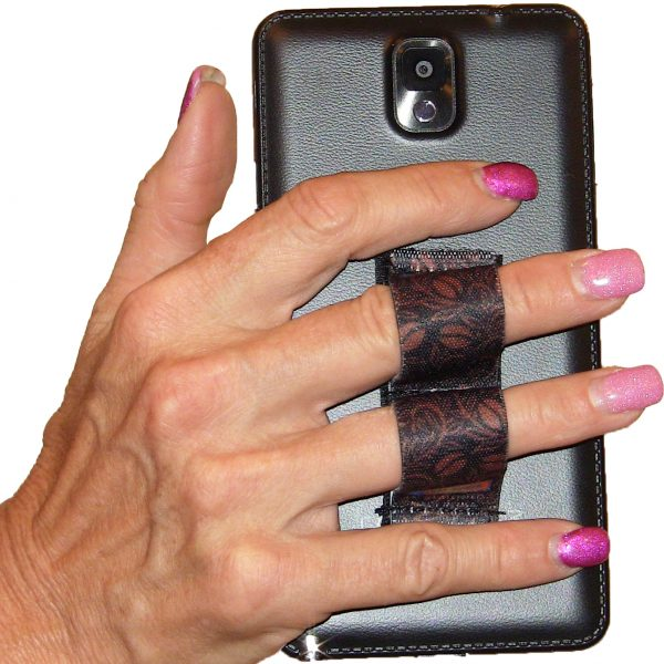 LAZY-HANDS Grips 2-Loop Phone Grip - Coffee Beans PG2